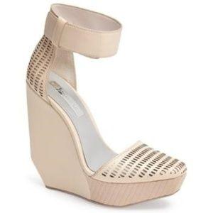 BCBG MAXAZRIA 'Austin' Ankle Strap Wedge Sandal